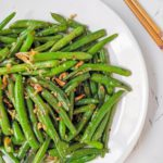 Easy Chinese style Green Beans with Shallots and Garlic Offset Square